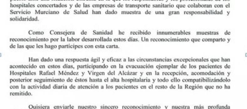 RECONOCIMIENTO DE LA CONSEJERA DE SANIDAD Y CONSUMO