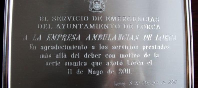 AGRADECIMIENTO AYUNTAMIENTO DE LORCA