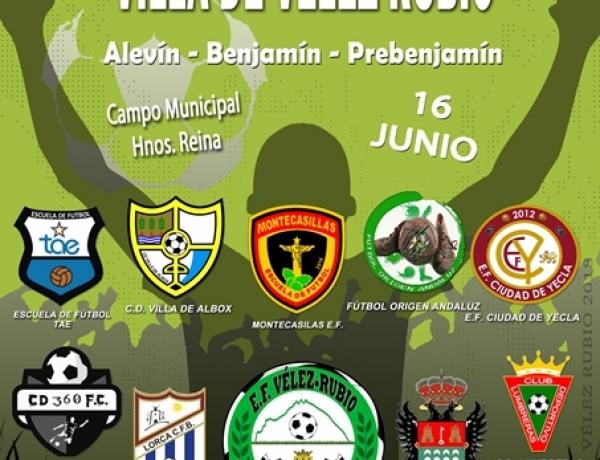 Torneo fútbol base Vélez Rubio