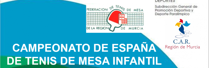 Campeonato de España infantil y cadete de tenis de mesa 2018