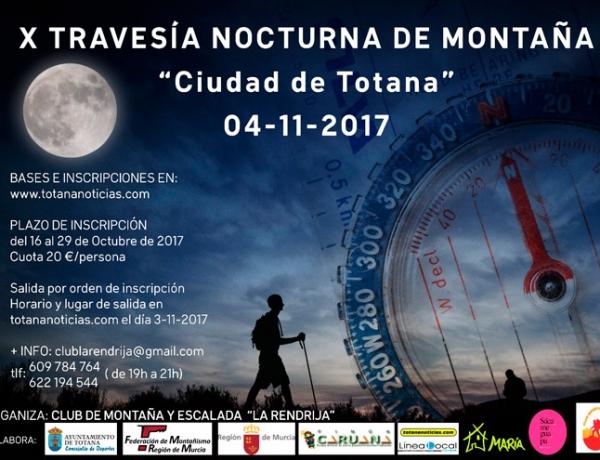 X TRAVESÍA NOCTURNA DE MONTAÑA CIUDAD DE TOTANA